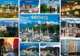 Mozartstadt Salzburg Austria Postcard Used Posted To UK 2011 Stamp - Autriche