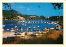 Marina Gouvia Corfu Greece Postcard Used Posted To UK 1988 Nice Stamp - Grecia