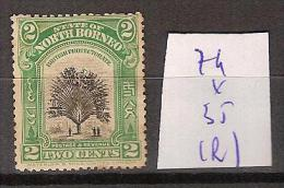 Bornéo Du Nord 74 * Côte 35 € ( Rouille ) - North Borneo (...-1963)