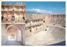 Aspendos Turkey Postcard Used Posted To UK 1989 Nice Stamp - Turchia