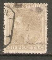 1879 EDIFIL  209 USADO VALOR DE CATALOGO 340€ - Usados