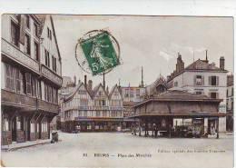 51. REIMS . PLACE DES MARCHES . RESTAURANT . MAGASIN  BISCUITS FOSSIER . Editions SPECIALE DES GALERIES REMOISES   83 - Reims