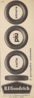# B.F.GOODRICH 1950s Car Tires Italy Advert Pub Pubblicità Reklame Auto Pneumatici Pneus Reifen Neumaticos - Transportation