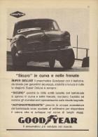 # GOODYEAR ALFA ROMEO GIULIETTA 1950s Car Tires Italy Advert Pub Pubblicità Reklame Pneumatici Pneus Reifen Neumaticos - Transportation