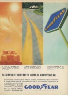 # GOODYEAR G8 MERCEDES 1960s Car Tires Italy Advert Pub Pubblicità Reklame Pneumatici Pneus Reifen Neumaticos - Transportation
