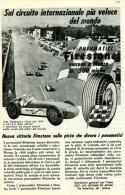 # FIRESTONE 500 MIGLIA MONZA 1958 JIM RATHMANN Car Tires Italy Advert Pub Pneumatici Pneus Reifen Neumaticos - Transportation