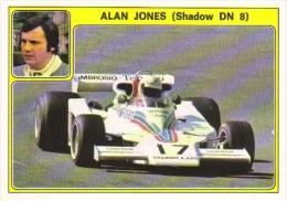 Panini Super Auto Sticker/Autocollant No 23  -  Alan Jones  -  Shadow DN8 - Panini