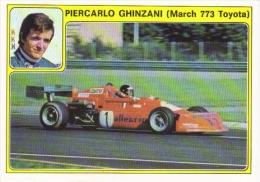 Panini Super Auto Sticker/Autocollant No 35  -  Piercarlo Ghinzani  -  March 773 Toyota - Panini