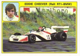 Panini Super Auto Sticker/Autocollant No 29  -  Eddie Cheever  -   Ralt RT1 BMW - Panini