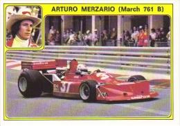 Panini Super Auto Sticker/Autocollant No 26  -  Arturo Merzario -   March 761B - Panini