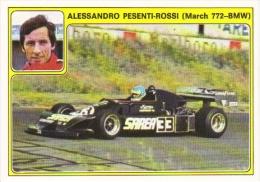 Panini Super Auto Sticker/Autocollant No 33  -  Alessandro Pesenti-Rossi  -   March 772 BMW - Edizione Italiana
