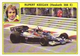 Panini Super Auto Sticker/Autocollant No 27  -  Rupert Keegan  -   Hesketh 308E - Panini