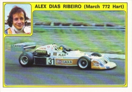 Panini Super Auto Sticker/Autocollant No 31  -  Alex Dias Ribiero  -   March 772 Hart - Panini