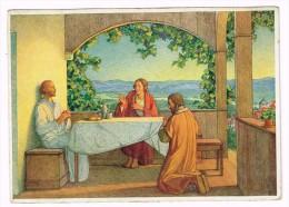 M1937 Illustrazione Illustration - Haller - Sie Erkannten Ihn Am Brotbrechen / Non Viaggiata - Haller, A.