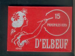 Carnet 15 Principales Vues D' Elbeuf (76) ( Dont 10 Cartes Animées Rue République Rigole Banque France  Barriere Tramway - Elbeuf