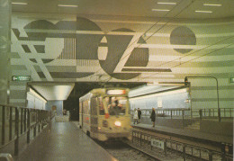"""BRUXELLES (Métro) - L5  -  """"Diamant"""".....  (scan Verso). - Metro"""