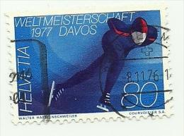 1976 - Svizzera 1012 Mondiali Pattinaggio C3219, - Inverno
