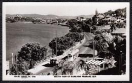 Brisbane - Pretty View Of HAMILTON BRISBANE WITH JOHN HICKS FACTORY   - Rare ! 1920s - 30 - Tram - Brisbane