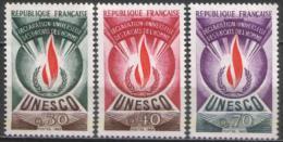 Frankreich / France # UNESCO - Mi-Nr 9/11 Postfrisch / MNH ** (K339) - Neufs