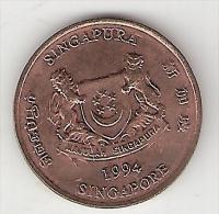 Singapore 1 Cent 1994 Km 98  Unc !! - Singapour