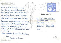 Nyhavn, Copenhagen Postcard Used Posted To UK 2011 ESTONIA Nice Stamp - Estonia