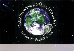 St Patrick's Day Ireland Postcard Used Posted To UK 2004 Postage Paid Pre-paid Card - Other