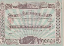 Société D'Electricité De Paris - 1935 - Actions & Titres