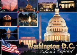 Multiview, Washington DC, United States USA US Postcard Used Posted To UK 2009 Stamp - Washington DC