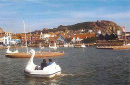 Boating Lake At The Stade, Hastings, Sussex, England UK Postcard - Hastings