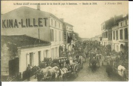 - CPA   PODENSAC- Maison Lillet Recevant Du Vin Blanc Récolte De 1900- 9702 - Altri Comuni
