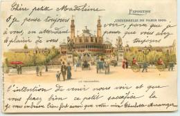 DEP 75 EXPOSITION UNIVERSEL DE PARIS 1900 LE TROCADERO BELLE CARTE DE KUNZLI - Expositions