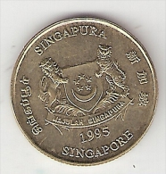 Singapore 5 Cents 1995 Km 99    Unc - Singapour
