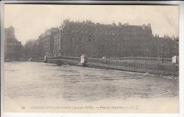 INONDATIONS DE PARIS Janvier 1910 ( CRUE DE LA SEINE ) Pont De Solférino - CPA - - De Overstroming Van 1910