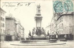 38 - GRENOBLE - Isère - Place Notre Dame Et Monument Du Centenaire - Grenoble