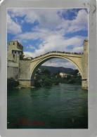 Old Bridge, Mostar, Bosnia Postcard Used Posted To UK 2011 Croatia Stamp - Bosnia And Herzegovina