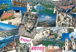 Kotor, Montenegro Postcard Used Posted To UK 2000s Croatia Stamp - Montenegro