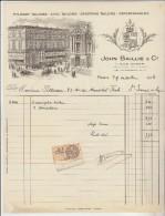 Paris : Facture Illustrée Non Pas Du Dit Magasin J. BAILLIE Mais Du GRAND HOTEL Pour Point De Repère ? - 1900 – 1949