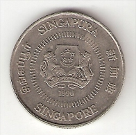 Singapore 10 Cents 1990 Km 51 - Singapour