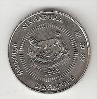 *singapore 10 Cents 1993 Km 100  Bu - Singapour