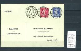 Lettre Cachet  Ambulant   Metz à Chateau Salins- Indice 11 - Postmark Collection (Covers)