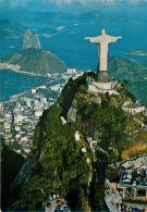 Corcovado, Rio De Janeiro RJ, Brazil Brasil Postcard VARIG - Rio De Janeiro