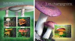 NIGER 2013 ** M/S + S/S Mushrooms Pilze Champignons A1415 - Pilze