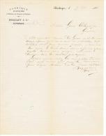 FABRIQUE DE FILETS DE PECHE  FILATURE De CHANVRE Et ETOUPES BROQUANT & Cie à DUNKERQUE 1882 - 1800 – 1899