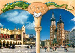 Krakow, Poland Postcard Used Posted To UK 2008 Gb Stamp - Poland