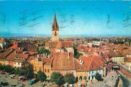 Sibiu, Romania Postcard Used Posted To UK 1983 Stamp - Romania