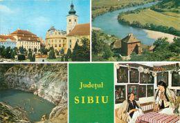 Judetul Sibiu, Romania Postcard Used Posted To UK 1979 - Romania