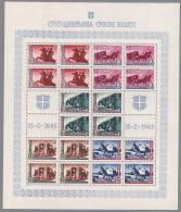 Serbien 1943 Mi.Nr. 94-98 Kleinbogen ** - Ocupación 1938 – 45