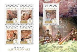 SOLOMON ISLAND 2013 ** M/S + S/S Indigenous Australian Art Einheimische Kunst A1415 - Andere