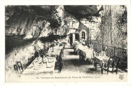 Cp, Restaurant, Terrasse Du Restaurant Du Puits De Padirac (46) - Restaurants