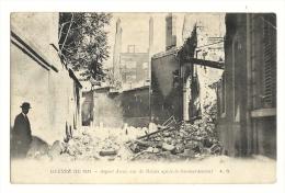 Cp, Militaria, Guerre 1914, Aspect D'une Rue De Reims Après Le Bombardement, écrite - Guerre 1914-18